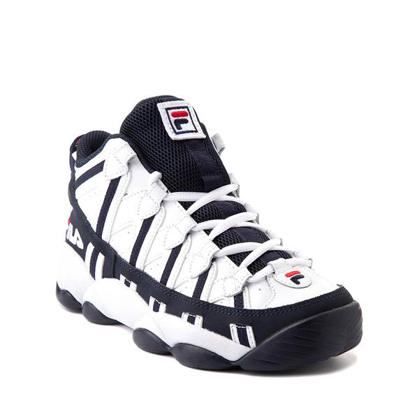 alternate view Fila Stackhouse Spaghetti Athletic Shoe - Big Kid - White / Navy / RedALT5