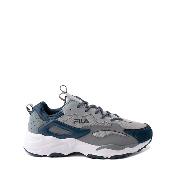 Fila Ray Tracer Athletic Shoe - Big Kid - Gray / Navy
