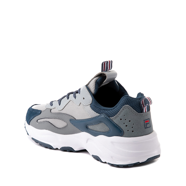 alternate view Fila Ray Tracer Athletic Shoe - Big Kid - Gray / NavyALT1
