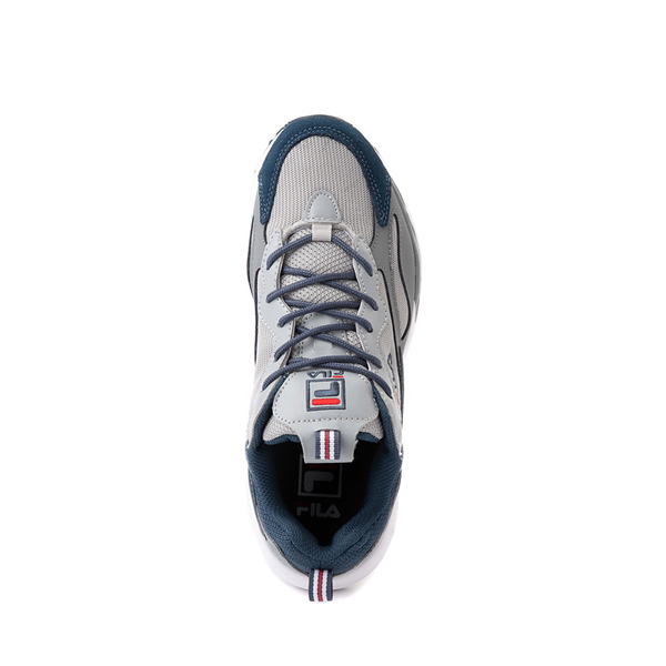 alternate view Fila Ray Tracer Athletic Shoe - Big Kid - Gray / NavyALT2