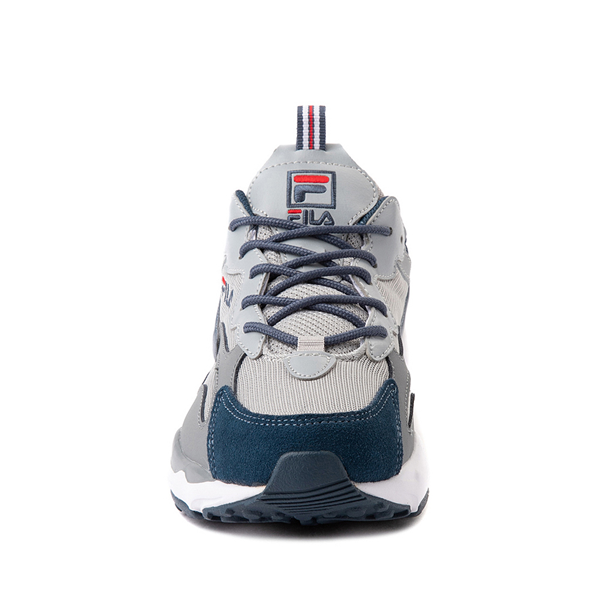 alternate view Fila Ray Tracer Athletic Shoe - Big Kid - Gray / NavyALT4
