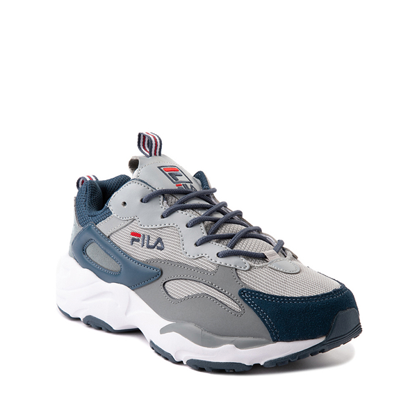 alternate view Fila Ray Tracer Athletic Shoe - Big Kid - Gray / NavyALT5