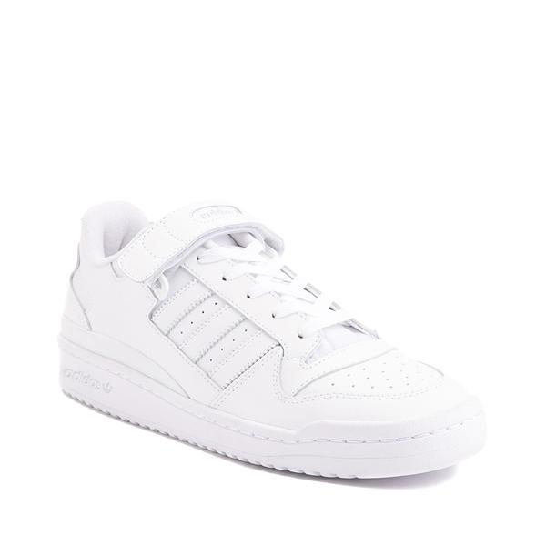 alternate view Mens adidas Forum Low Athletic Shoe - White MonochromeALT5