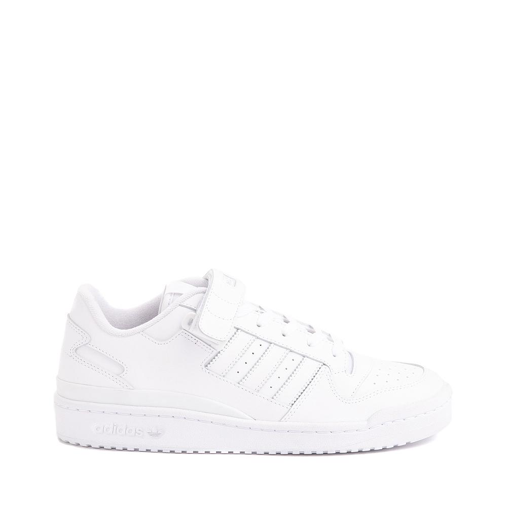 Mens adidas Forum Low Athletic Shoe - White Monochrome