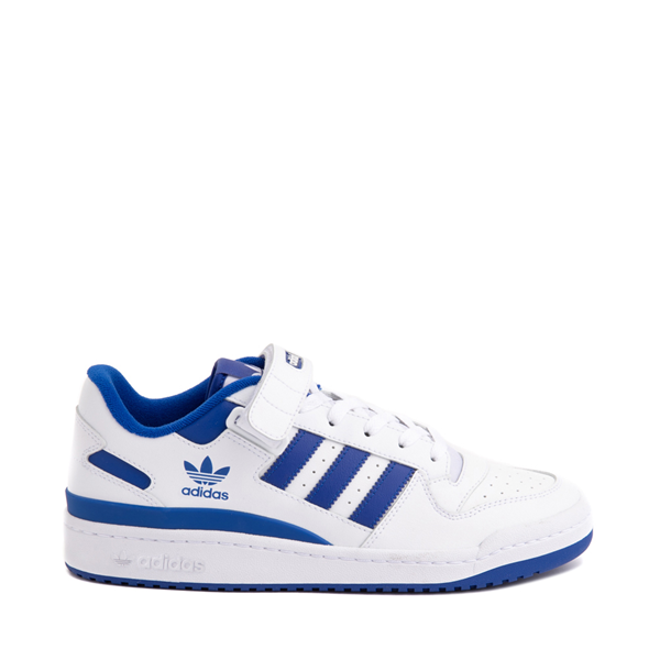 Main view of Mens adidas Forum Low Athletic Shoe - White / Collegiate Royal Blue