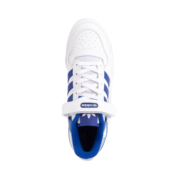 alternate view Mens adidas Forum Low Athletic Shoe - White / Collegiate Royal BlueALT2