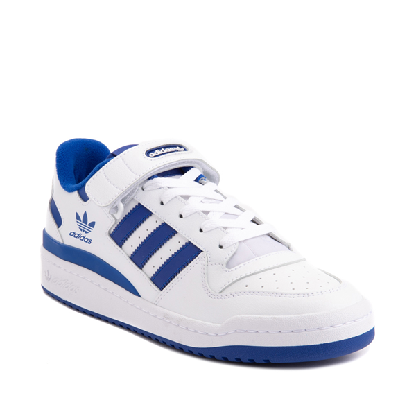 alternate view Mens adidas Forum Low Athletic Shoe - White / Collegiate Royal BlueALT5