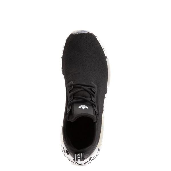 alternate view Mens adidas NMD R1 Speckle Athletic Shoe - BlackALT2