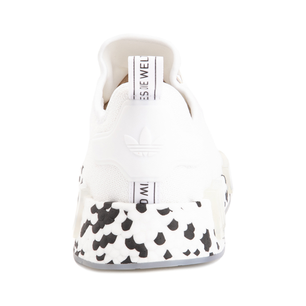 alternate view Mens adidas NMD R1 Speckle Athletic Shoe - WhiteALT4