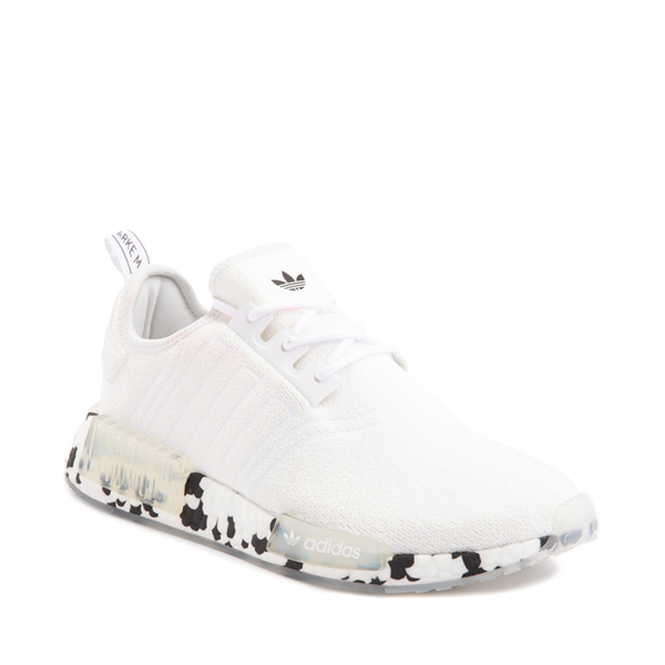 alternate view Mens adidas NMD R1 Speckle Athletic Shoe - WhiteALT5
