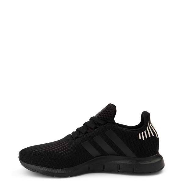 alternate view Womens adidas Swift Run Athletic Shoe - Black MonochromeALT1