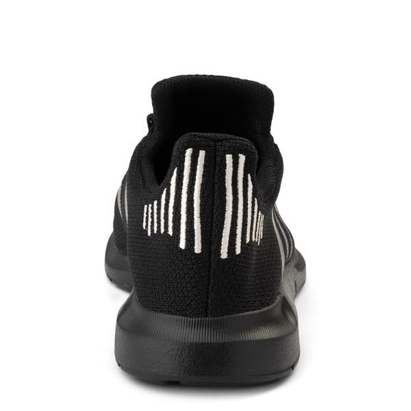 alternate view Womens adidas Swift Run Athletic Shoe - Black MonochromeALT4
