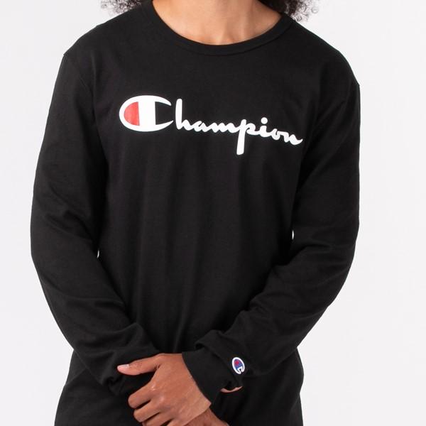 alternate view Mens Champion Heritage Long Sleeve Tee - BlackALT1B