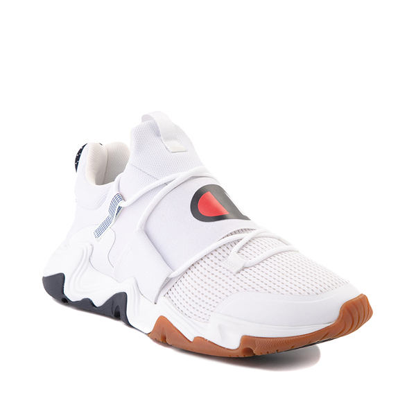 alternate view Mens Champion Hyper C Link Athletic Shoe - White / Black / RedALT5