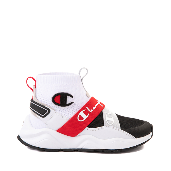Main view of Womens Champion Rally Neo Hi Athletic Shoe - White / Black / Red