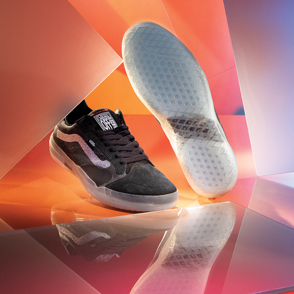 Main view of Vans EVDNT Ultimate Waffle Skate Shoe - Black