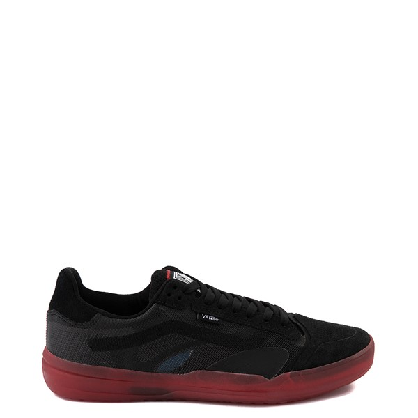 Main view of Vans EVDNT Ultimate Waffle Skate Shoe - Black / Red