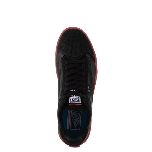 alternate view Vans EVDNT Ultimate Waffle Skate Shoe - Black / RedALT2
