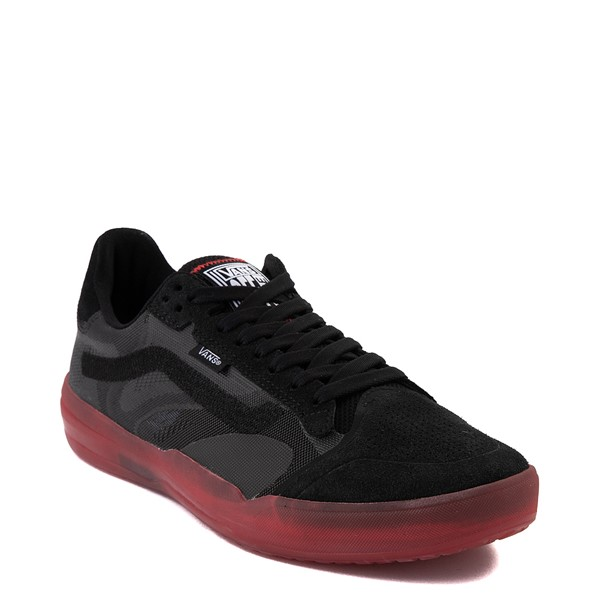 alternate view Vans EVDNT Ultimate Waffle Skate Shoe - Black / RedALT5