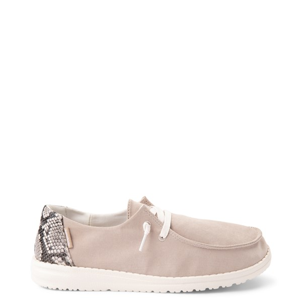 Main view of Womens Hey Dude Wendy Slip On Casual Shoe - Taupe / Snake