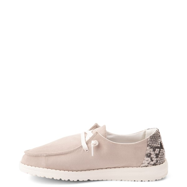 alternate view Womens Hey Dude Wendy Slip On Casual Shoe - Taupe / SnakeALT1