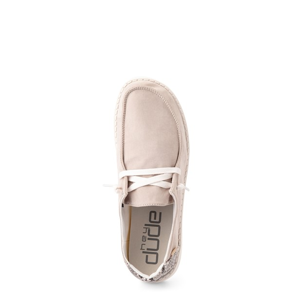 alternate view Womens Hey Dude Wendy Slip On Casual Shoe - Taupe / SnakeALT2