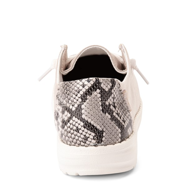 alternate view Womens Hey Dude Wendy Slip On Casual Shoe - Taupe / SnakeALT4