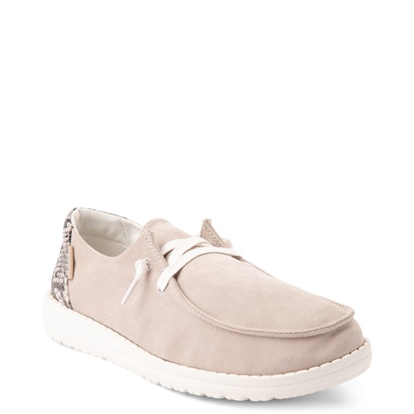 alternate view Womens Hey Dude Wendy Slip On Casual Shoe - Taupe / SnakeALT5