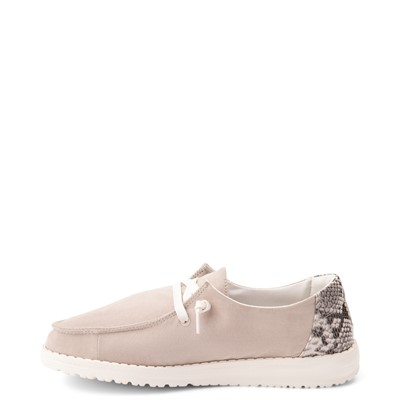 Alternate view of Womens Hey Dude Wendy Slip On Casual Shoe - Taupe / Snake