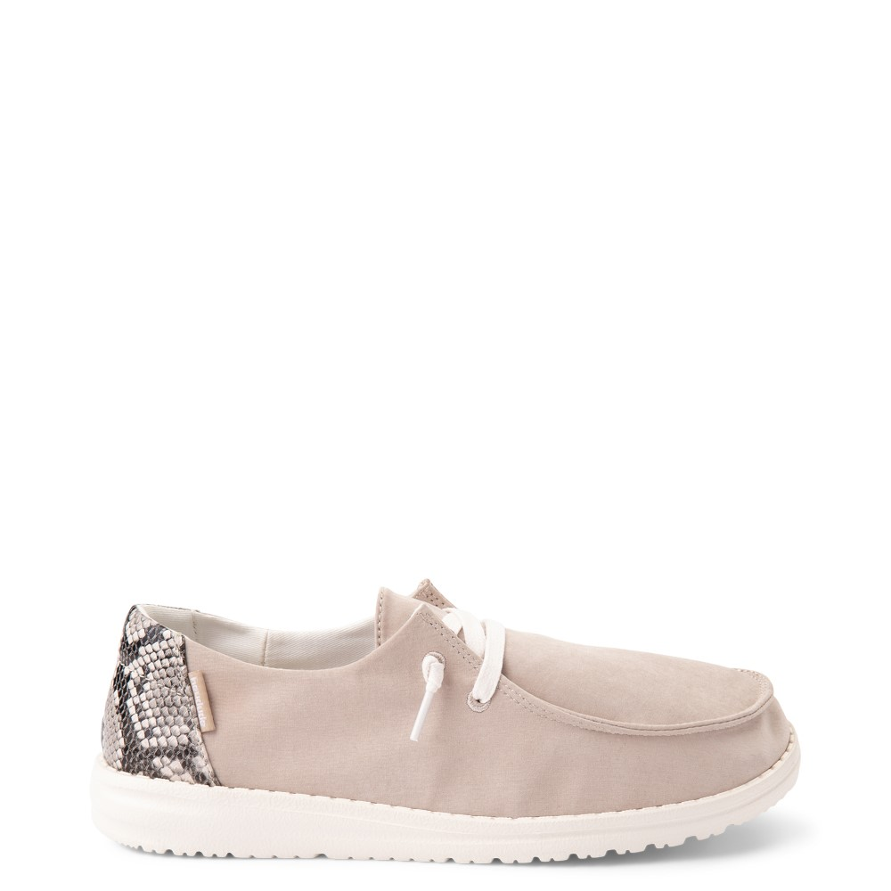 Womens Hey Dude Wendy Slip On Casual Shoe - Taupe / Snake
