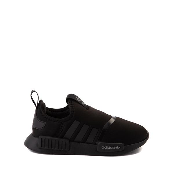 adidas NMD 360 Slip On Athletic Shoe - Little Kid - Black Monochrome
