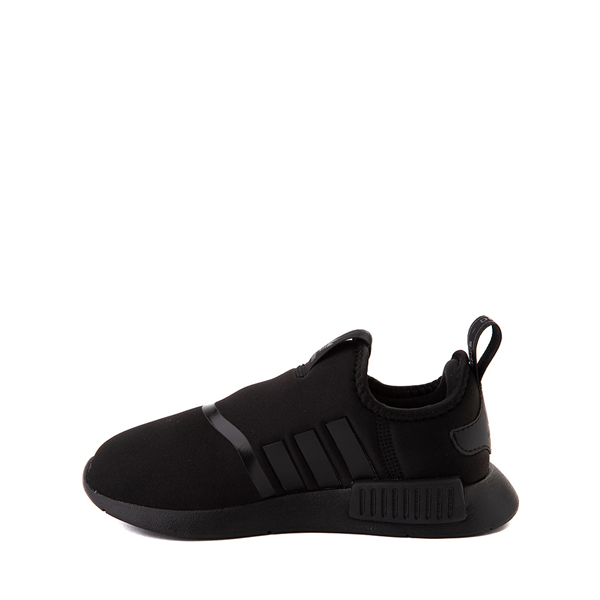 alternate view adidas NMD 360 Slip On Athletic Shoe - Little Kid - Black MonochromeALT1