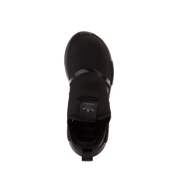 alternate view adidas NMD 360 Slip On Athletic Shoe - Little Kid - Black MonochromeALT2