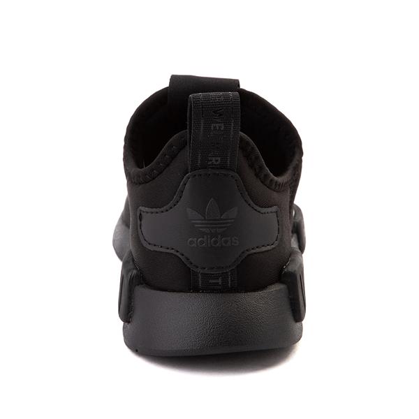 alternate view adidas NMD 360 Slip On Athletic Shoe - Little Kid - Black MonochromeALT4