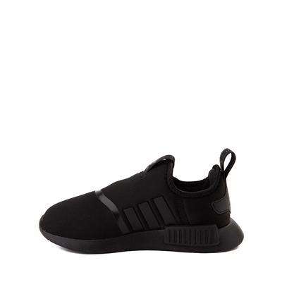 Alternate view of adidas NMD 360 Slip On Athletic Shoe - Little Kid - Black Monochrome