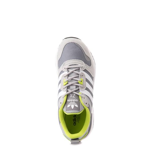 alternate view adidas ZX 700 HD Athletic Shoe - Big Kid - Gray / LimeALT2