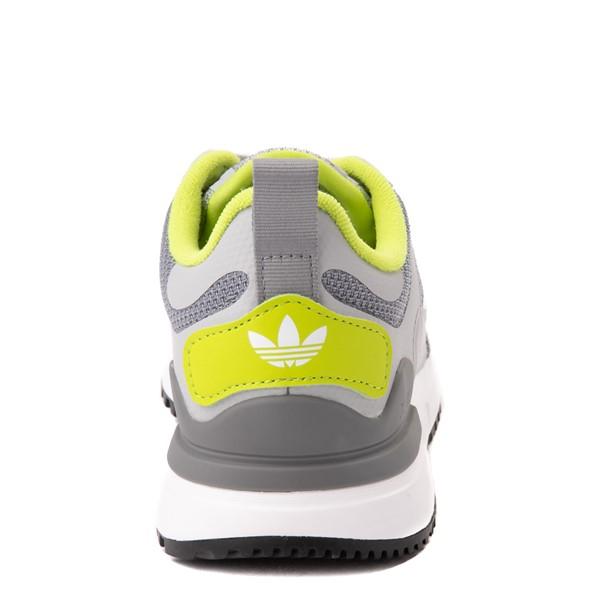 alternate view adidas ZX 700 HD Athletic Shoe - Big Kid - Gray / LimeALT4