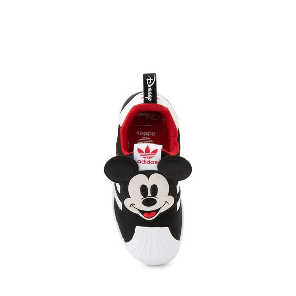 alternate view adidas x Disney Superstar 360 Mickey Mouse Slip On Athletic Shoe - Little Kid / Big Kid - BlackALT1