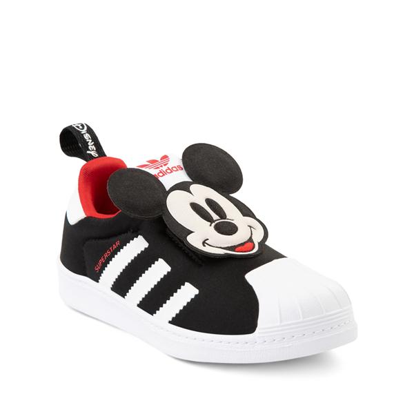 alternate view adidas x Disney Superstar 360 Mickey Mouse Slip On Athletic Shoe - Little Kid / Big Kid - BlackALT5