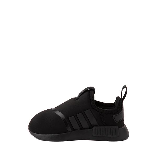 alternate view adidas NMD 360 Slip On Athletic Shoe - Baby / Toddler - Black MonochromeALT1