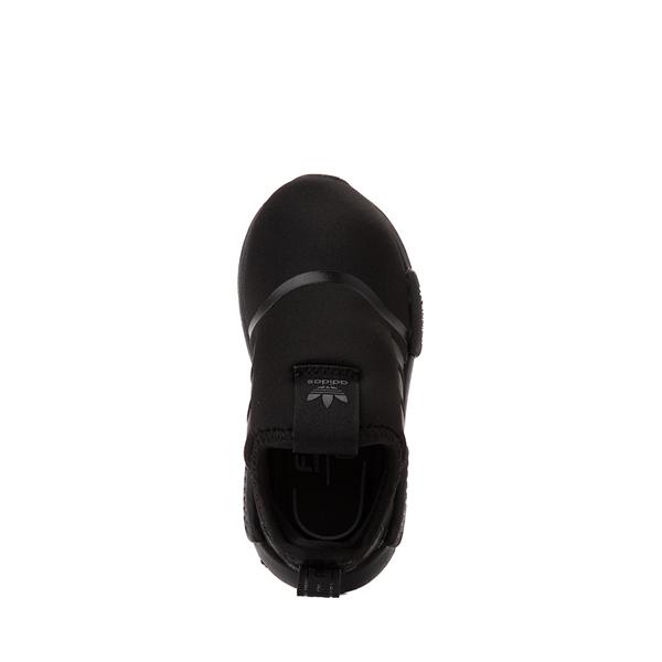 alternate view adidas NMD 360 Slip On Athletic Shoe - Baby / Toddler - Black MonochromeALT2