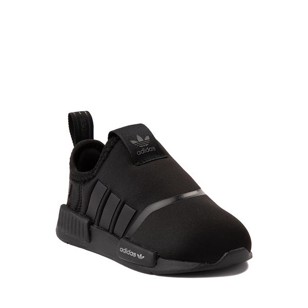 alternate view adidas NMD 360 Slip On Athletic Shoe - Baby / Toddler - Black MonochromeALT5