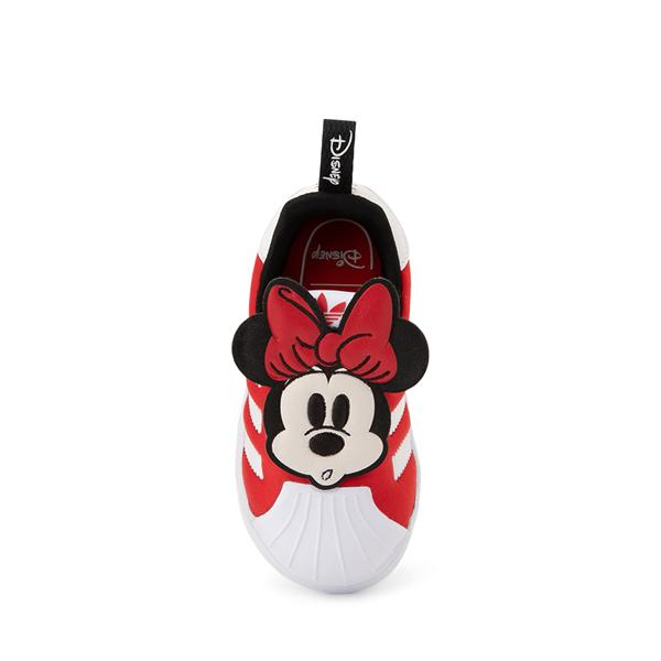alternate view adidas x Disney Superstar 360 Minnie Mouse Slip On Athletic Shoe - Baby / Toddler - RedALT1