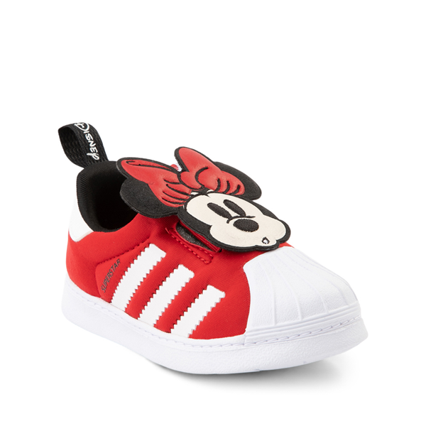 alternate view adidas x Disney Superstar 360 Minnie Mouse Slip On Athletic Shoe - Baby / Toddler - RedALT5
