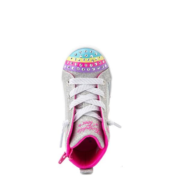 alternate view Skechers Twinkle Toes Twi-Lites Rainbow Cloud Sneaker - Toddler - SilverALT2
