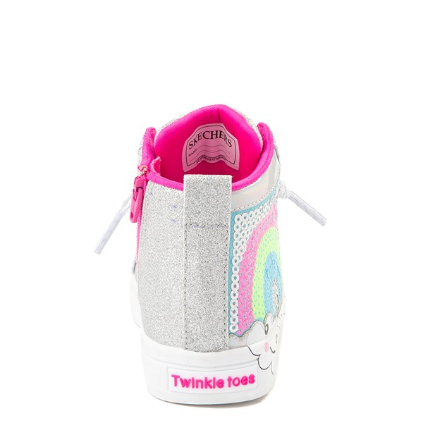 alternate view Skechers Twinkle Toes Twi-Lites Rainbow Cloud Sneaker - Toddler - SilverALT4