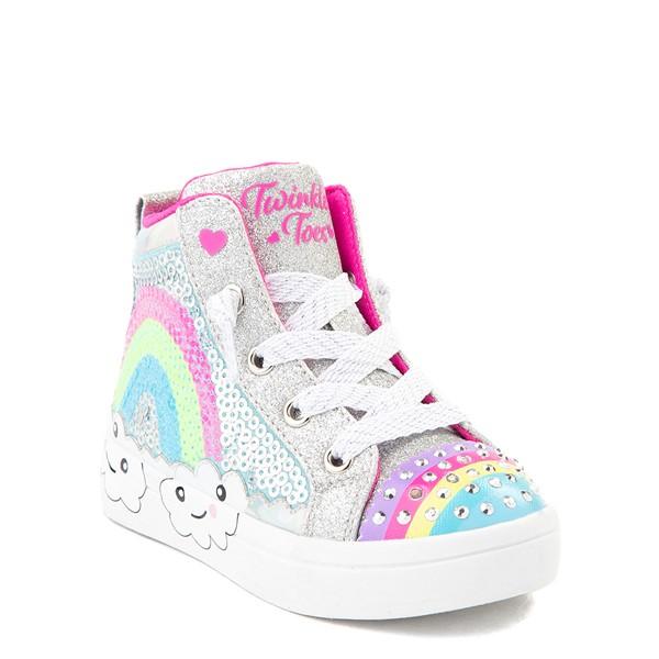 alternate view Skechers Twinkle Toes Twi-Lites Rainbow Cloud Sneaker - Toddler - SilverALT5