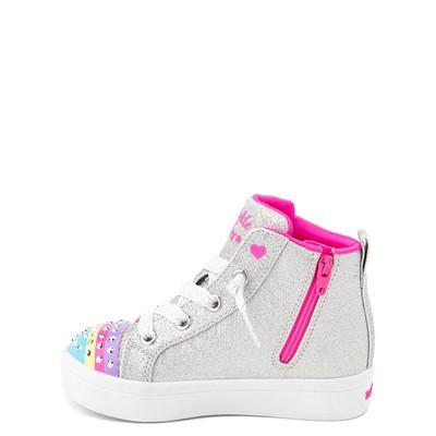 Alternate view of Skechers Twinkle Toes Twi-Lites Rainbow Cloud Sneaker - Toddler - Silver
