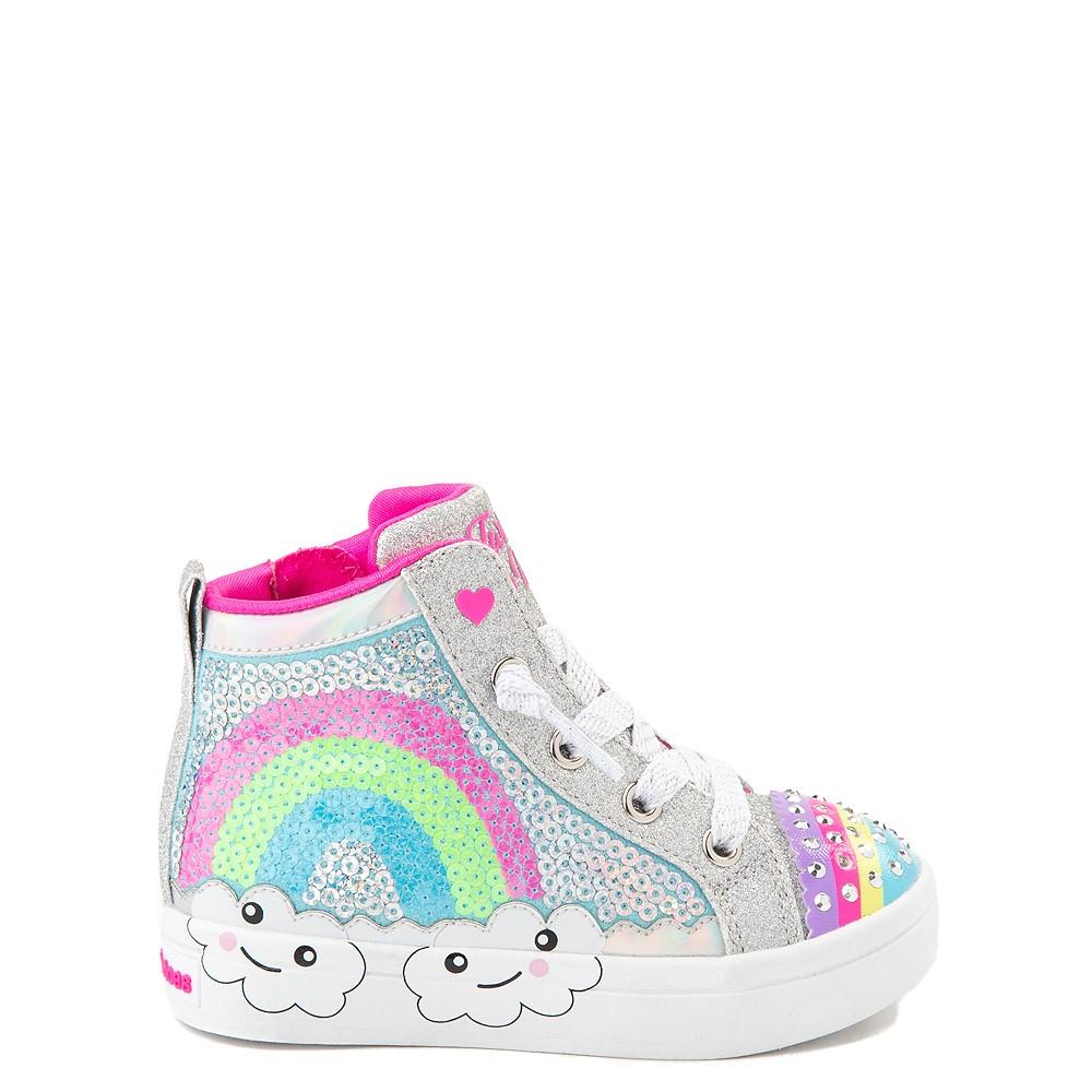 Skechers Twinkle Toes Twi-Lites Rainbow Cloud Sneaker - Toddler - Silver