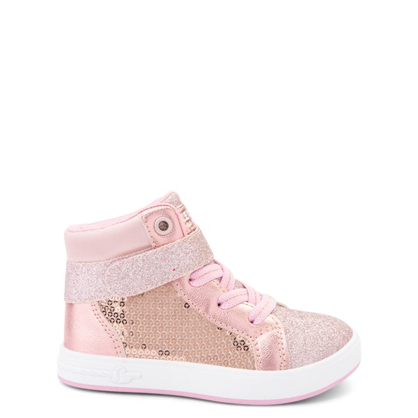Main view of Skechers Shoutouts Steal The Runway Sneaker - Toddler - Rose Gold